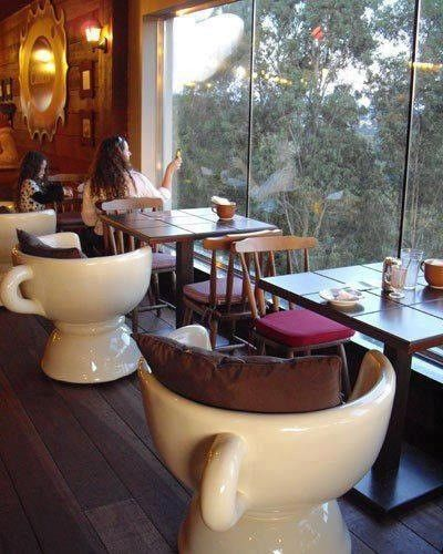 trang trí quán cà phê độc lạ